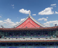 Roof decorations on the territory Giant Wild Goose Pagoda, Xian Stock Images
