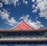 Roof decorations on the territory Giant Wild Goose Pagoda, Xian Royalty Free Stock Images