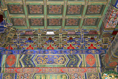 Roof decorations in Yonghe Temple (Lama Temple) in Beijing, China Stock Photography