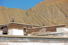 Roof decorative in Tibetan temple Royalty Free Stock Photography