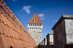 Roof and defence tower Stock Images