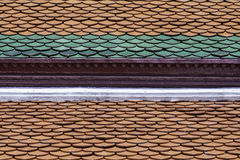 roof det thai tempelet Royaltyfria Foton