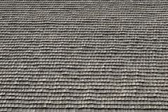 Roof detail. Texture of traditional romania roof covering - shingles Stock Images