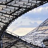 Roof detail early in the morning. Roof detail of the Olympic Park in Munich early in the morning stock image