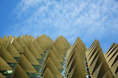 Roof detail. Esplanade in singapore Stock Images