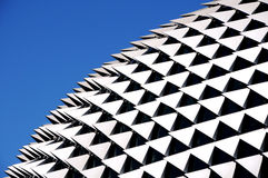 Roof detail. Esplanade in singapore Stock Image