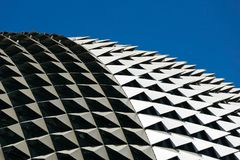Roof detail esplanade under clear sky. Singapore Royalty Free Stock Photos