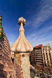 Roof detail of Gaudi's Casa Batllò Royalty Free Stock Photography