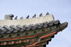 Roof detail of the Heungryemun gate stock photography