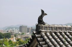 Roof Detail on Himeji Castle Stock Photos