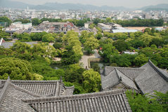 Roof Detail on Himeji Castle Royalty Free Stock Image