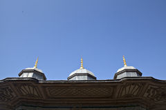 Roof detail of III. Ahmet Fountain Stock Photography