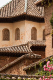 Roof detail from inside the Alhambra palace. In Granada, Spain Stock Photography