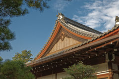 Roof Detail of a Japanese Buddhist Temple Royalty Free Stock Photos