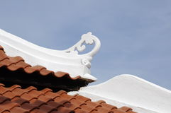 Roof detail of Masjid Kampung Hulu in Malacca, Malaysia Royalty Free Stock Photos