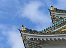 Roof detail, Osaka Castle Stock Photos