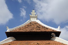 Roof detail of Peringgit Mosque in Malacca, Malaysia Stock Images