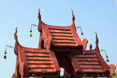 Roof detail. Royal Park Rajapruek. Chiang Mai province. Thailand Royalty Free Stock Photos