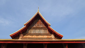 Roof detail of Si Saket Temple Royalty Free Stock Photography