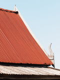 Roof detail of a small cottage vintage retro THAILAND style Royalty Free Stock Photography
