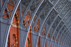 Roof detail of St Pancras station. Royalty Free Stock Images
