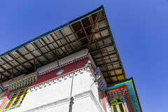 Roof detail of Tibetan Buddhism Temple in Sikkim, India.  Stock Photography
