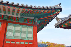 Roof detail, Traditional Architecture, South Korea Stock Photos
