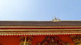 Roof detail of Wat Simuang Temple, Stock Image
