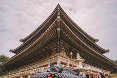 Roof Detail at Yakcheonsa Temple. Jeju, South Korea.  Royalty Free Stock Image
