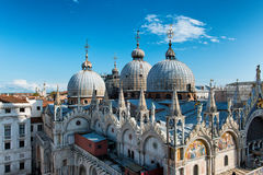 Roof details of Basilica San Marco, Venice Stock Image
