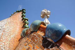 Roof details of Casa Batllo, Barcelona Royalty Free Stock Image