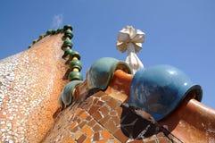 Roof details of Casa Batllo, Barcelona Royalty Free Stock Image