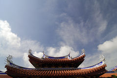 Roof details of a Chinese Temple Royalty Free Stock Images