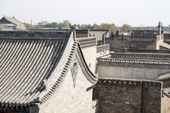 Roof Details of Pinyyao Ancient Town Royalty Free Stock Image