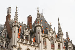 Roof details of Provincial Palace, Bruges. Stock Image