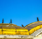 Roof details of the red fort under Stock Photography