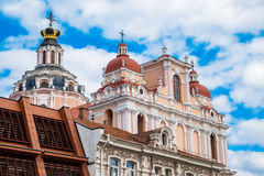 Roof and dome of St. Casimir Church. Vilnius city, Lithuania. Stock Photography