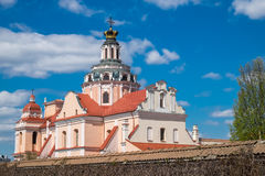 Roof and dome of St. Casimir Church, Vilnius, Lithuania. Stock Photography
