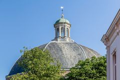 Domed church in Arnhem in the  Netherlands. Roof of the Domed church at the Saint Jans square in Arnhem in the  Netherlands Stock Photo