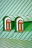 Roof Dormers On The Roof Covered With Iron Plates Stock Photography