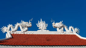 The roof with dragon Stock Image