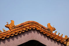 Roof with dragons Stock Photography