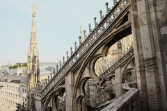 Roof of duomo cathedral Stock Photography