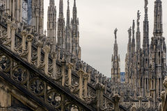 Roof of Duomo cathedral, Milan Royalty Free Stock Images