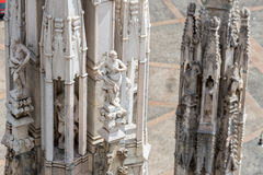 Roof of Duomo cathedral, Milan Stock Images