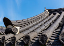 Roof eave of traditional architecture in Korea Royalty Free Stock Image