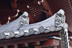 Roof eaves from japanese temple Royalty Free Stock Images