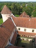 Roof of the Edole castle Stock Photos