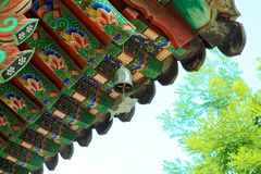 Rooftop of a buddhist monastery located near Seoul - South Korea Royalty Free Stock Photos