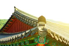 Rooftop of some buddhist monastery located near Seoul - South Korea Royalty Free Stock Photography